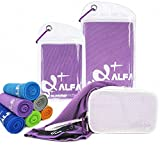 wwww Balhvit Cooling Towel Evaporative Chilly Towel For Yoga Golf Travel-Violet-Large (47x14-Inch)
