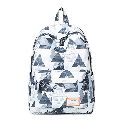White Landscape 615 Girls Cute Boys and Print Fashion Acmebon Fox Backpack for School Lightweight Waterproof Bookbag OKZqF6