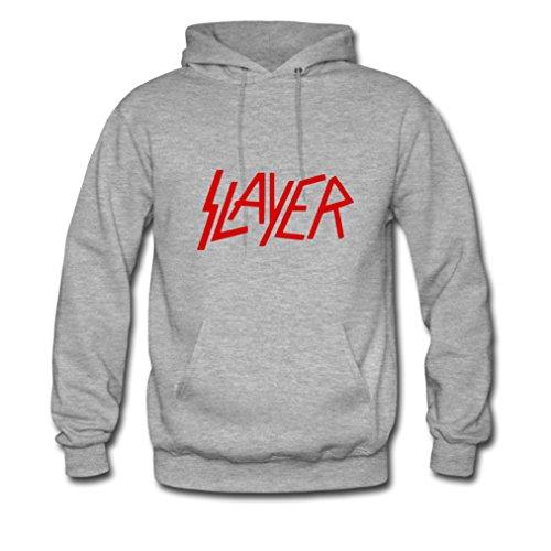 HJGBEDS Mens Slayer Letter Fonts Gildan Hoody Coat XL Grey