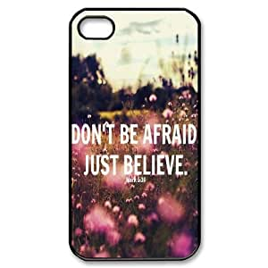 diy iphone4,iphone4s Case, Don't Be Afraid, Just Believecase for iphone4,iphone4s at Jipic