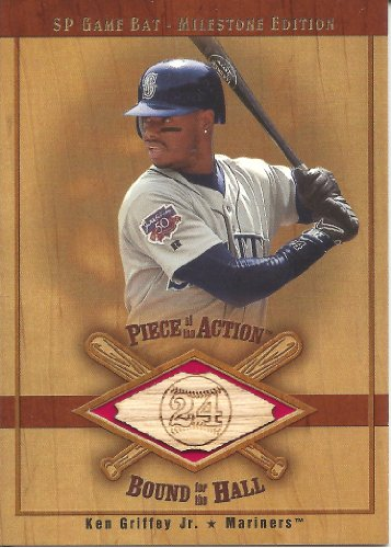 Ken Griffey Jr. 2001 SP Game Bat Milestone Piece of Action Bound for the Hall #BKGM Mariners