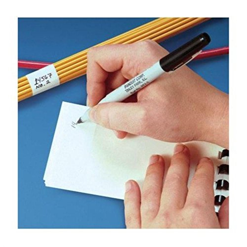 Panduit PSCB-3Y Write-On Self-Laminating Wire Marker Cards, Vinyl, 1.00 by 3.00-Inch, 6 - Marker Laminating