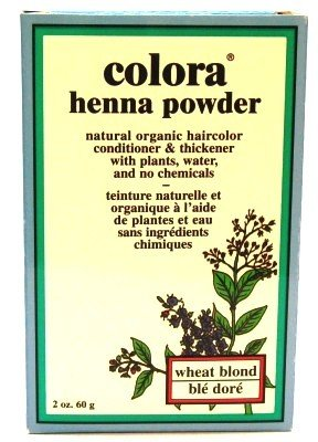 Colora Henna Veg-Hair Wheat Blonde 2 oz. (Case of 6) by Colora Henna