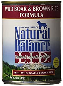 Natural Balance Limited Ingredient Diets Wild Boar & Brown Rice Can, 13 oz