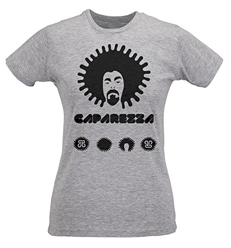 cotone T Caparezza Maglietta Donna Slim 100 Grigio shirt spun ring LaMAGLIERIA WH7YqHwB