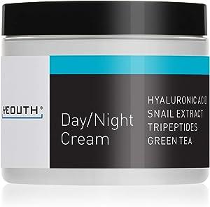 Crema Hidratante Facial de Día YEOUTH con Extracto de Caracol, Acido Hialurónico, Mejor Crema Antiarrugas - 4 oz (4oz)