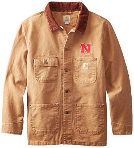 NCAA Nebraska Cornhuskers Men's Weathered Chore Coat, Medium ()