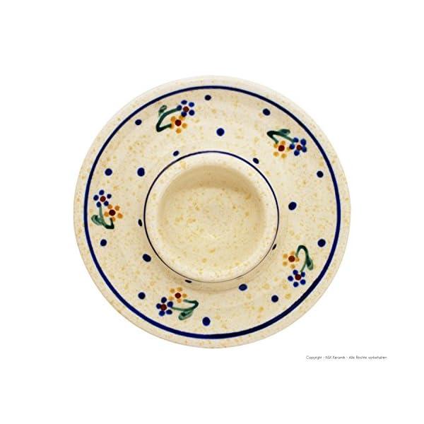 Original Boleslawiec flat Egg cup Dekor 111