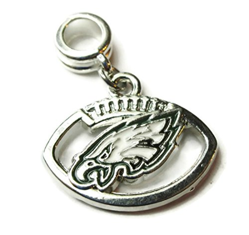 PHILADELPHIA EAGLES OFFICIALLY LICENSED CHARM WITH CONNECTOR