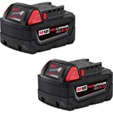 MILWAUKEE M18™ REDLITHIUM™ XC5.0 Extended Capacity Battery Two Pack