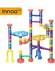 Innoo Tech Circuits de Billes, Jouets Enfants 3 Ans Toboggan à Billes 80pcs | Labyrinthe Billes Marble Run Jeux de Construction Cadeaux Enfants Anniversaire