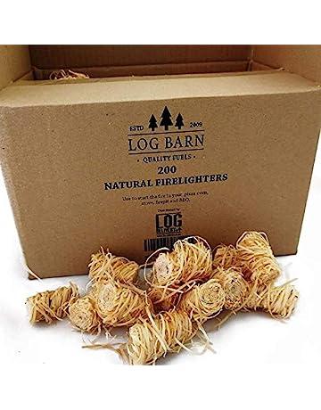 Encendedores de madera natural ecológica – 200 encendedores de llama de lana de madera por caja