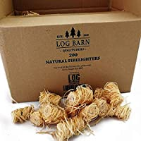 Natural Eco Wood Firelighters - 200 Wood Wool Flame Fire Starters Per Box. Great for Lighting Fires in Wood Burning Stoves, Log Burners, BBQ's, Pizza Ovens & Smokers. Natural Kindling.