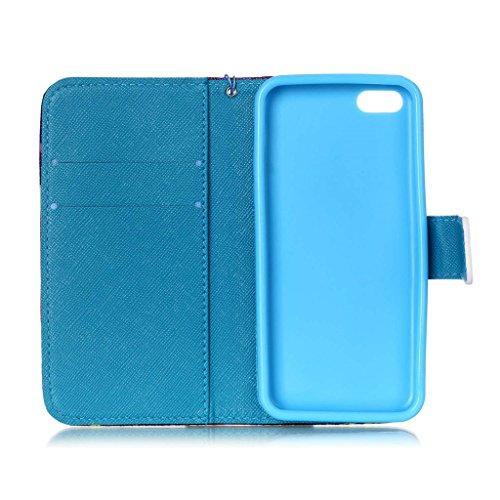 iPhone 5C Coque , Apple iPhone 5C Coque Lifetrut® [ ailes d'anges ] [Wallet Fonction] [stand Feature] Magnetic snap Wallet Wallet Prime Flip Coque Etui pour Apple iPhone 5C