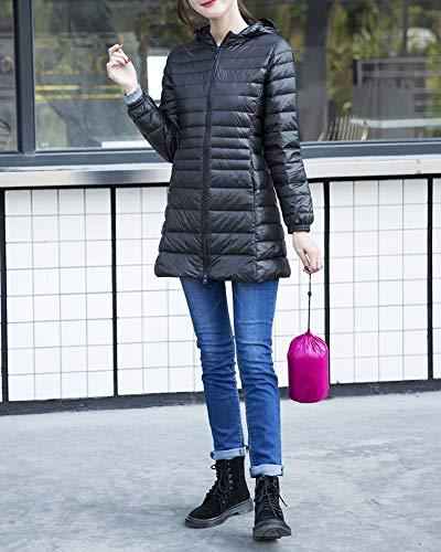 Sezione Inverno Cappuccio Autunno Larga Nero Leggero Piumini Taglia Giacche E Donna Fit Media Slim Sottile Lunga qUHSznS