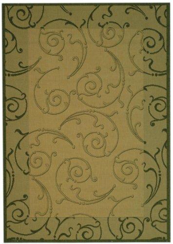 - Transitional Rug - Courtyard Polypropylene -Natural/Olive Natural/Olive/Transitional/6'7