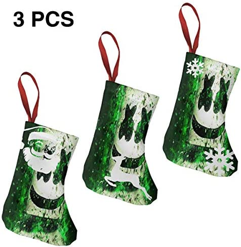 クリスマスの日の靴下 (ソックス3個)クリスマスデコレーションソックス アイドルミュージックMarshmello クリスマス、ハロウィン 家庭用、ショッピングモール用、お祝いの雰囲気を加える 人気を高める、販売、プロモーション、年次式