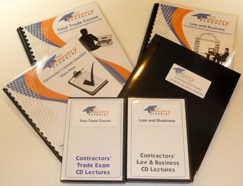 KIT C54 - CERAMIC AND MOSAIC TILE for California w/LAW & BUSINESS & Online Practice Exams, Instructors on CDs by Industry Schools