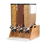 Rosseto DS102 Bulk Shop Triple Dispenser Bamboo