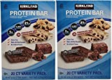 Kirkland Signature Protein bar energy variety pack AhFFdU, 2Pack (20 Count)