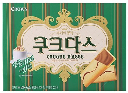 Crown Couque D'asse Cream Filled Wafer Cookies, 144g (Vienna Coffee, 3 Pack)