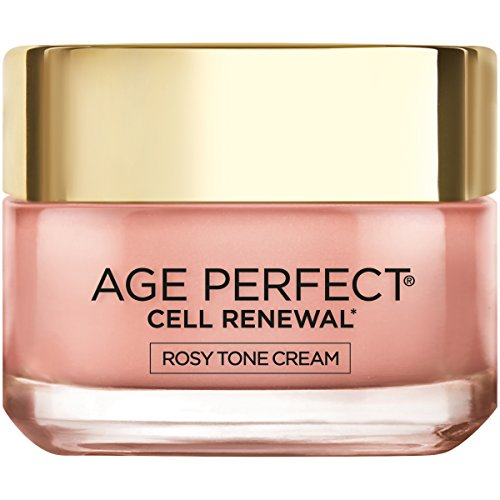 Face Moisturizer by L'Oreal Paris, Age Perfect Cell Renewal Rosy Tone Face Moisturizer with LHA and Imperial Peony for Visibly Younger Looking Skin, Anti-Aging Day Cream for Face, Non-greasy, 1.7 oz. (Fresh Radiance Anti Aging Moisturizer)