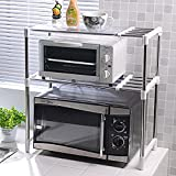CLG-FLY Home storage double microwave oven microwave oven multifunctional stainless steel Towel rack shelf#184with best service
