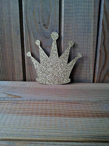 Gold Glitter Crown Die Cuts - paper crowns - princess decorations - prince decor - party supplies from Party Ridge