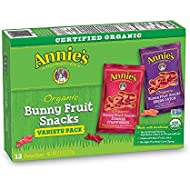 Annie's Organic Bunny Fruit Snacks, Variety Pack, 12 (0.8 oz.) Pouches
