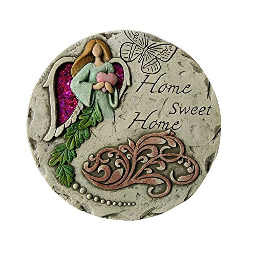 "Comfy Hour 10"" Angel Home Sweet Home Garden Stepping Stone"