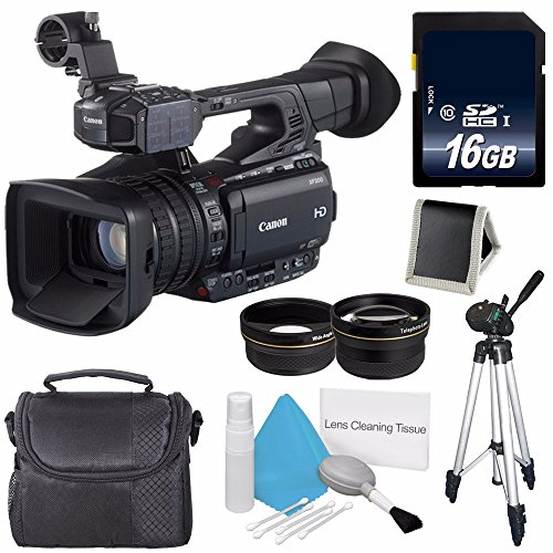 Canon XF200 HD Camcorder  + 58mm Wide Angle Lenses + 58mm 2x