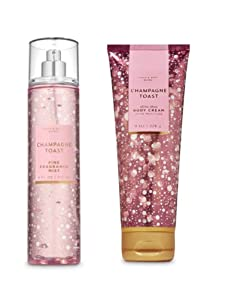 Bath and Body Works - Champagne Toast - Fine Fragrance Mist and Ultra Shea Body Cream - Full Size –2019