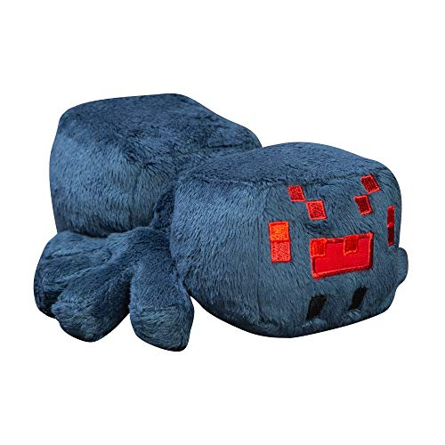 JINX Minecraft Happy Explorer Cave Spider Plush Stuffed Toy, Blue, 7