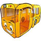 Dominiti Spielzelt XXL Bus in orange / POP-UP mit Boden