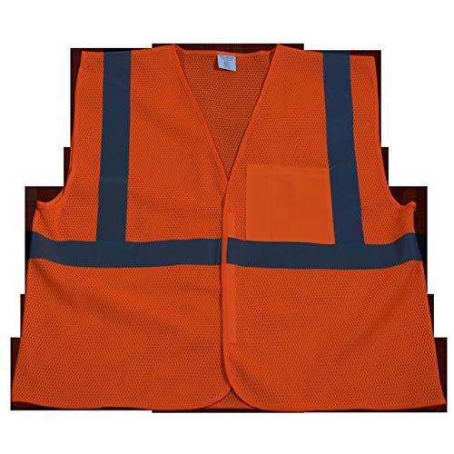 Sophia Harper OVM2-EC-4X-5X Safety Vest Economy Line Ansi Class Ii Orange Mesh, 4X & 5X