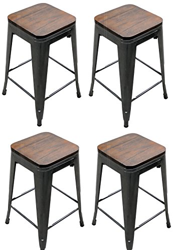 4 Stacking Counter Stools - 5