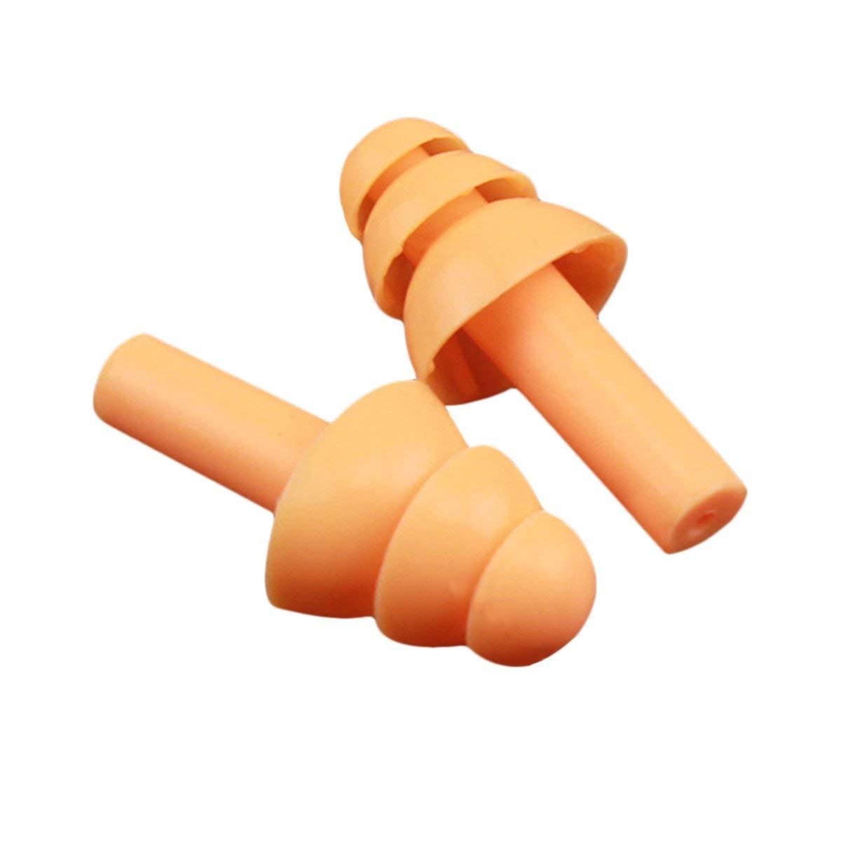 Gugutogo Tappi per le orecchie in silicone morbido Isolamento acustico Protezione per le orecchie Tappi per le orecchie Riduzione del rumore Tappi per dormire con scatola di immagazzinaggio