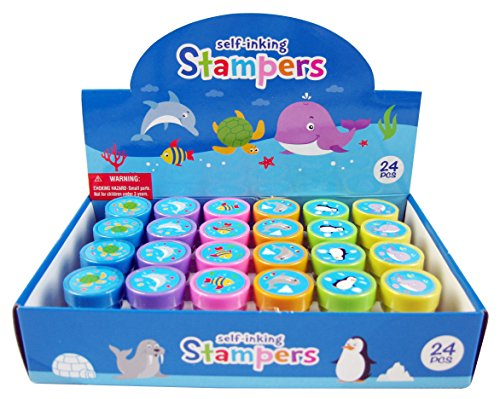 24 Pcs Ocean Life Stampers for Kids
