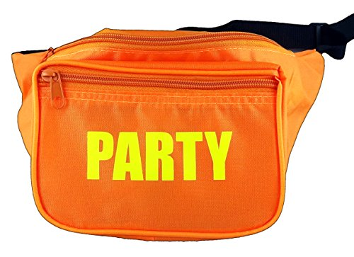 Funny Guy Mugs PARTY Fanny Pack, Orange (80s Guys Costume)