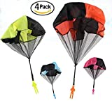 Maikerry Parachute Toy Kids Parachute Tangle Free Throwing Toy Assorted Colors (Pack of 4)