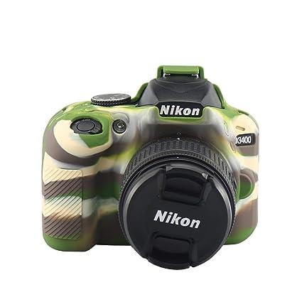 Funda Protectora de Silicona para cámara Nikon D3400: Amazon.es ...
