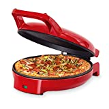 Dash DPS001RR Double Up Compact Electric Skillet Hot Oven Cooker with with Dual Cooking Pans Nonstick, Indicator Light, Recipe book for Pizza, Burgers, Cookies, Fajitas, Breakfast & More, Red
