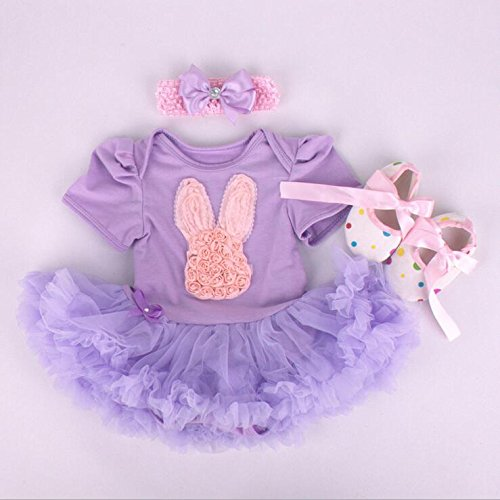 """Handmade pink Girl Baby Clothes Dress set suitable for 20""""- 22"""" Reborn Baby Dolls"""