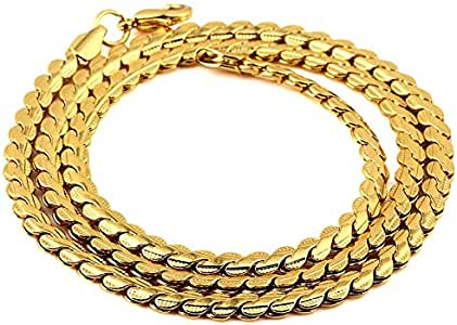 Hip Hop Jewelry Men Necklace 55cm Copper Chain Fashion Cool Gifts Mens Jewellery gold