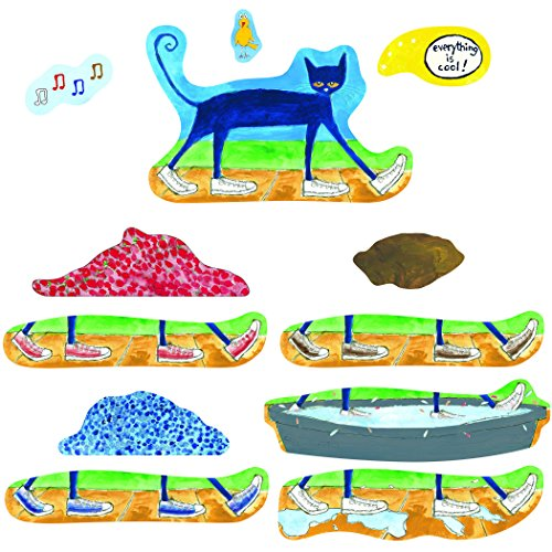 Little Folk Visuals Pete the Cat: I Love My White Shoes Precut Flannel/Felt Board Figures, 12 Pieces Set