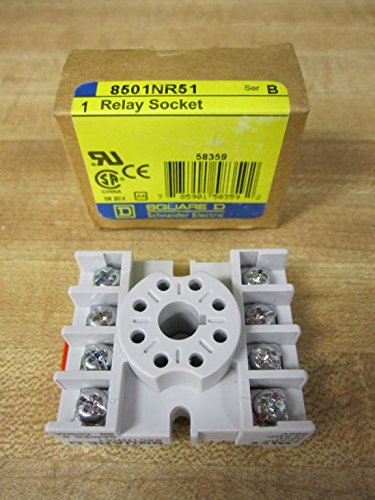 Square D 8501NR51 Relay Socket, 600VAC, 10A, 15A, 300V
