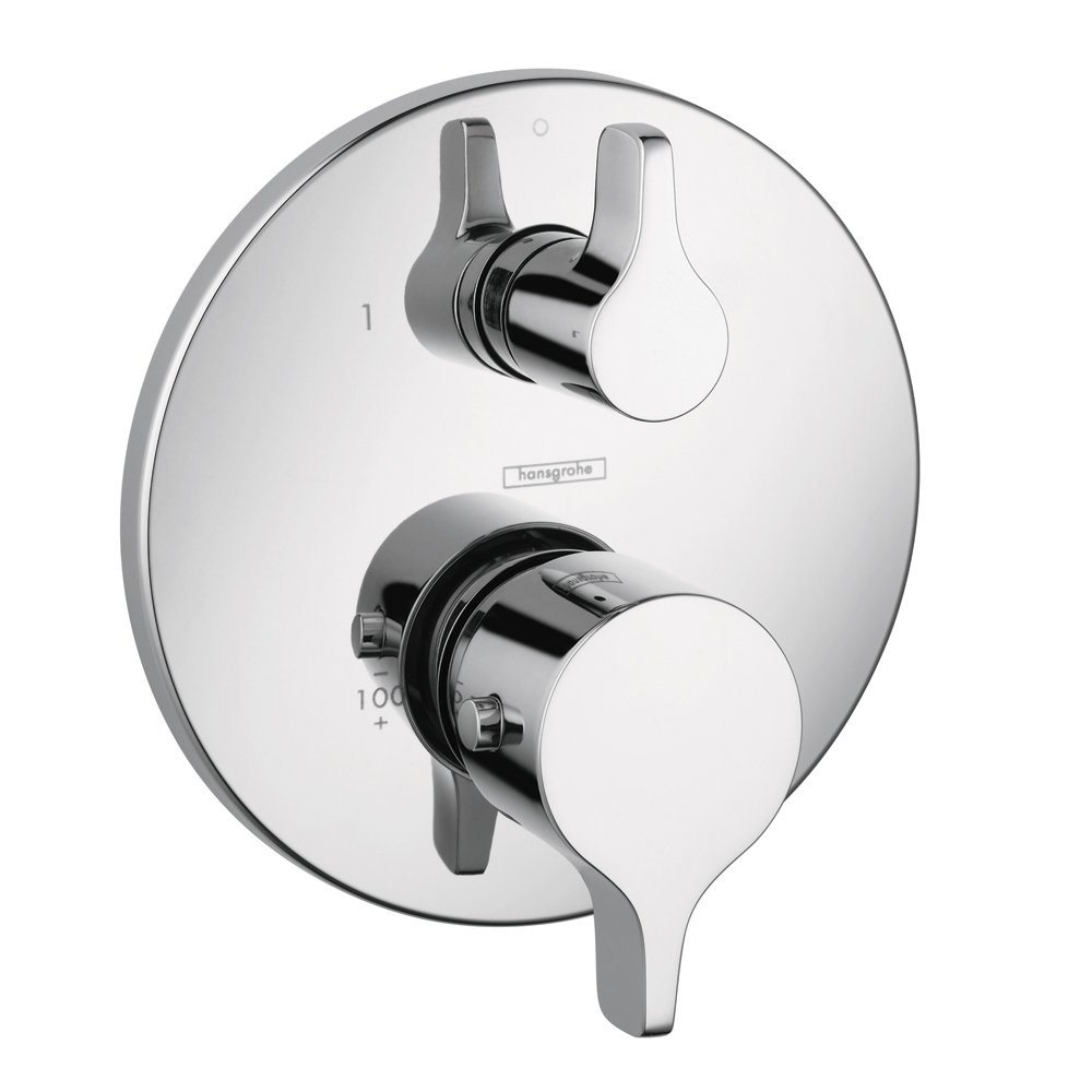 Hansgrohe 04353000 S and E Thermostatic Trim with Volume Control and Diverter, Chrome by Hansgrohe