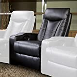 Coaster Home Furnishings 600130ER Contemporary Recliner, Black (Middle Recliner)