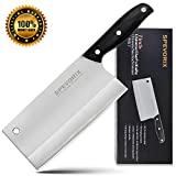 Cleaver Knife,7 Inch Meat Cleaver High Carbon Stainless Steel Kitchen Knife with Ergonomic Handle for Kitchen and Restaurant