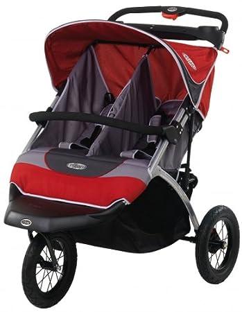 Amazon.com: InStep Suburban Safari Double Jogging Stroller (red ...
